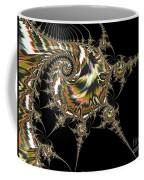Golden Spirals And Spikes Coffee Mug