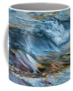 Golden Strands Of Water Coffee Mug