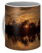 Golden Sunburst At The Lake New Jersey  Coffee Mug