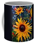 Golden Sunflower Burst Coffee Mug