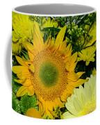 Golden Sunflower Yellow Bouquet By Kaye Menner Coffee Mug