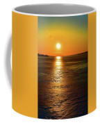 Golden Sunset Light On The Ice Two  Coffee Mug