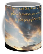 Golden Sunset With Verse Coffee Mug