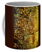 Golden Texture Abstract Coffee Mug