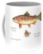Golden Trout And Elk Hair Caddis Fly Coffee Mug