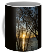 Golden Willow Sunrise - Greeting A Bright Day On The Lake Coffee Mug