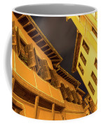 Golden Yellow Night - Chic Zigzags Of Oriel Windows And Serrated Roof Lines Coffee Mug