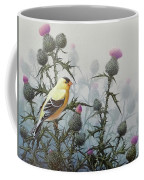 Goldfinch And Thistles Coffee Mug