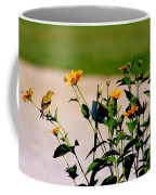 Goldfinch And Yellow Flowers Coffee Mug