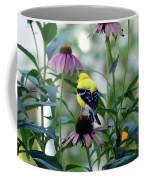 Goldfinch Visiting Coneflower Coffee Mug