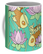 Goldfish And Lotus Coffee Mug