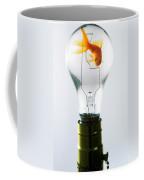 Goldfish In Light Bulb  Coffee Mug