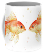 Goldfish Love Watercolor Coffee Mug