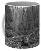 Goldstream Provincial Park Black And White Coffee Mug