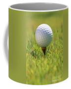 Golf Ball On Tee Coffee Mug