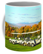 Golf Carts On Vermont Golf Course Coffee Mug