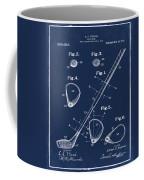 Golf Club Patent 1910 Blue Coffee Mug