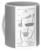 Golf Clubs Patent - Restored Patent Drawing For The 1903 A. F. Knight Golf Clubs Coffee Mug