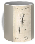 Golf Tee Patent - Patent Drawing For The 1899 G. F. Grant Golf Tee Coffee Mug