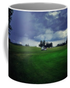 Golfing Before The Rain Golf Cart 01 Coffee Mug