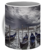 Gondolas In Front Of San Giorgio Island Coffee Mug