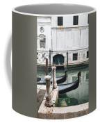 Gondolas On A Canal In Venice, Italy Coffee Mug