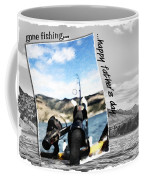 Gone Fishing Father's Day Card Coffee Mug