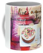 Good Day Donut- Art By Linda Woods Coffee Mug
