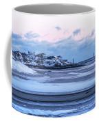 Good Harbor Beach And Thacher Island Covered In Snow Gloucester Ma Coffee Mug