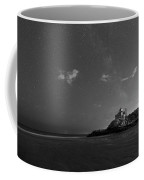 Good Harbor Beach Under The Stars And Milky Way Black And White Coffee Mug