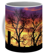 Good Morning Cows Colorful Sunrise Coffee Mug