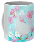 Goose On Floral Background Coffee Mug