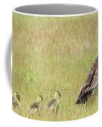Goslings Following Mama Coffee Mug