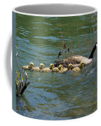 Goslings In A Row Coffee Mug