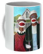 Gothic American Sock Monkeys Coffee Mug