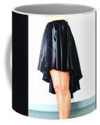 Gothic Black Satin High Low Skirt. Ameynra By Sofia Coffee Mug