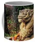 Gothic Garden Gargoyle Statue Spider Webs Coffee Mug