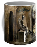 Gothic Surreal Angel With Gargoyles And Ravens  Coffee Mug