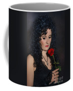 Gothic Woman With Rose Coffee Mug