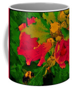 Gouache Painting Flower And Bumble Bee Coffee Mug