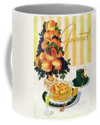 Gourmet Cover Featuring A Centerpiece Of Peaches Coffee Mug