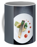 Gourmet Salmon Fish  Fillet With Rice And Guacamole Meal Coffee Mug