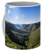 Govetts Leap Lookout Panorama, Australia Coffee Mug