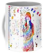 Grace Slick Jefferson Airplane Paint Splatter Coffee Mug