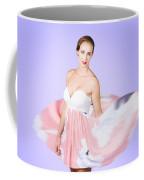 Graceful Dreamy Dancing Girl In Pink Dress Coffee Mug