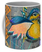 Graffiti Art Of A Colorful Bird Along Street IIn Hilly Valparaiso-chile Coffee Mug