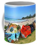 Graffiti At The Beach Coffee Mug