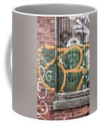 Graffiti Covered Wall Of An Old Abandoned Factory Coffee Mug