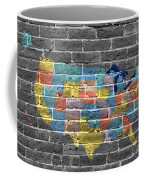 Graffiti  Map Of The United States Of America Coffee Mug