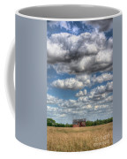 Grain Barn And Barley Field Coffee Mug